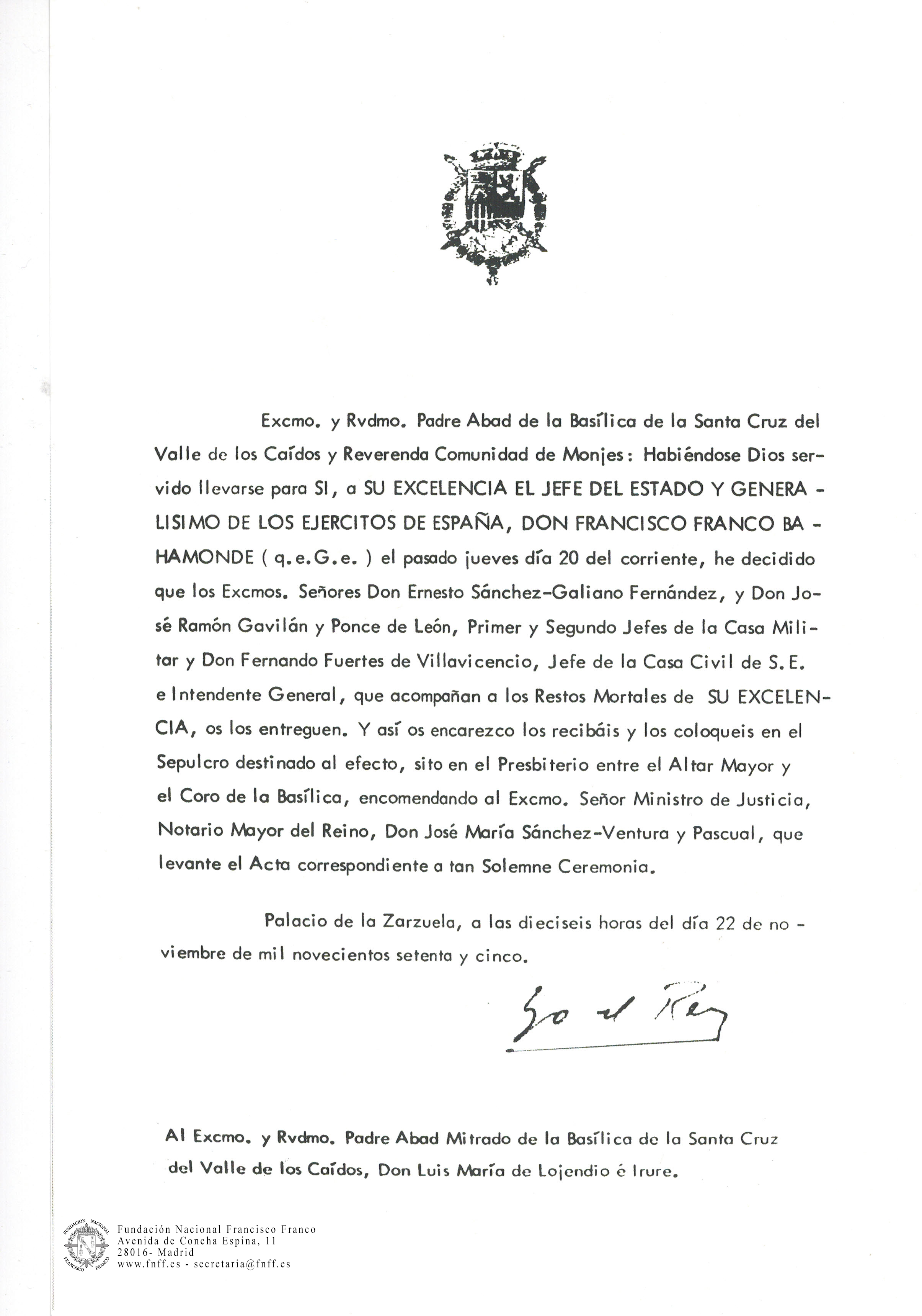 Carta_del_Rey_pidiendo_enterrar_a_Franco_en_el_Valle